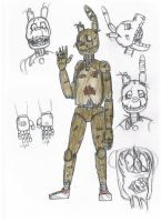 Springtrap concept (redesign) by buck678