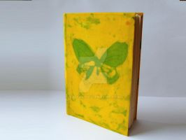 notebook, diary, journal, with batik, free bookmar by Patiak