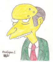 Mr. Burns Drawing by MarioSimpson1