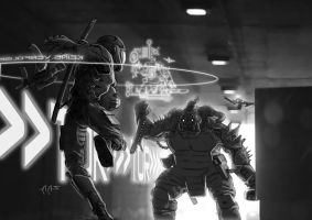 SR Urban Brawl Confrontation by raben-aas