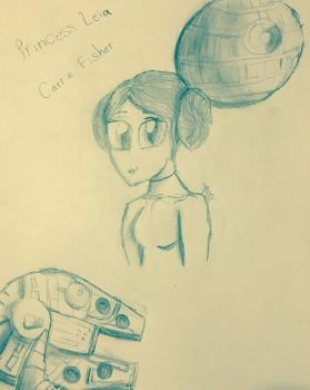 Princess Leia (Carrie Fisher) by Chicacreepypasta09