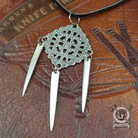 Silver Filigree Fork Tine Pendant Necklace by Doctor-Gus