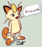 Day 72 - Meowth by LinkSketchit