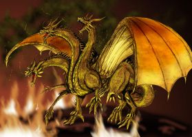 Emperor Ghidorah by Scotwith1T