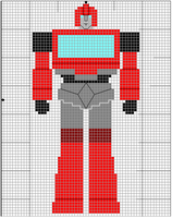 Ironhide xstitch by crawdadEmily