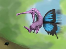 Fairy dragon Spitpaint by puky7