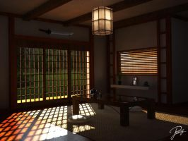 Japanese style interior by UnleasheDDesigns