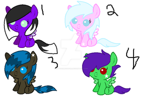 Pony Draw to  adopts by Kittehsmoshfan