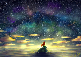 Above the Sea by SilverFei