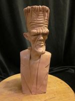 Stylized Frankenstein bust WIP by Blairsculpture