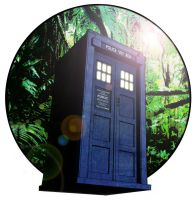 Tardis in jungle by westleyjsmith
