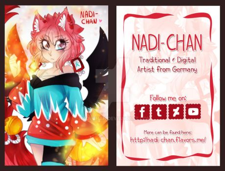 New Business Card Design by Nadi-Chan