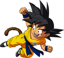 Dragon Ball - kid Goku 18 - Dragon Box by superjmanplay2