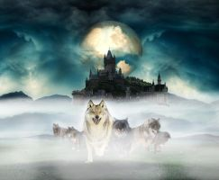 Running with the wolves by Cleniver