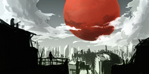 Red Moon by tinhan