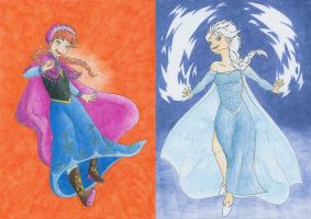 The Sisters of Arendelle by Mion-93