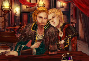 hawke and anders by CarrotCakeBandit