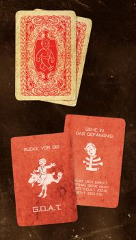 Fallout Monopoly red Cards by PinkAxolotl