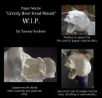 Paper mache Grizzly Bear by Tammysoul