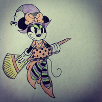 Wicked Witch Minnie Mouse by SonicBoyAnt