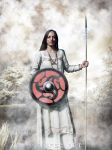 Viking woman Svartnatt by thecasperart