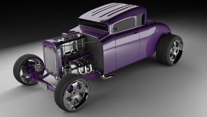 Stylized Ford 32 Hot Rod by Zacko86