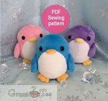 Penguin plushies by GreenTeaCreations
