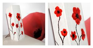 Knive stand in poppies by AnnAntonina