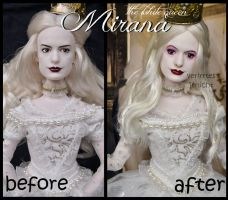 repainted ooak the white queen mirana doll. by verirrtesIrrlicht