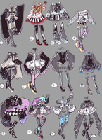 CLOSED-GothPastel Outfits by Guppie-Adopts