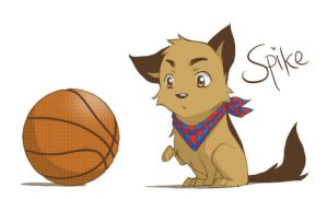 SPIKE and a basketball by handbeer
