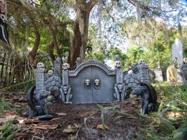 Small Pet Cemetary for Halloween by Dream-finder