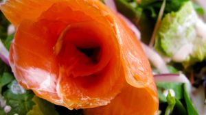 Smoked salmon rose by TortueBulle