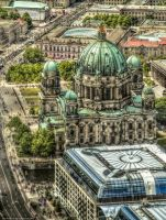 Berliner Cathedral from above by pingallery