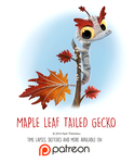 Day 1443. Maple Leaf-tailed Gecko by Cryptid-Creations