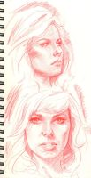 sketchbook faces by DylanTeague