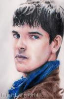 Colin Morgan color pencil by Painirl