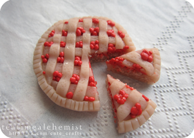 cranberry pie for pullip by tea-time-alchemist