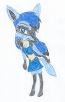 Sharon the Lucario by KendraTheShinyEevee