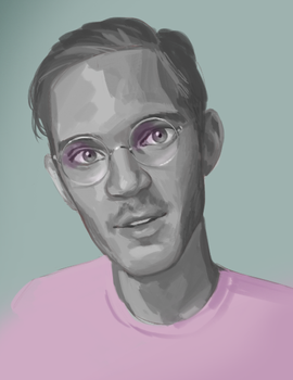Felix Kjellberg speed portrait by icarus-descends