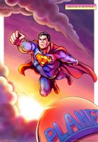 Eighties Superman Flies Again - Color by kh27s