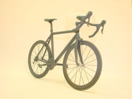 raceing bike front view by OliverBrig