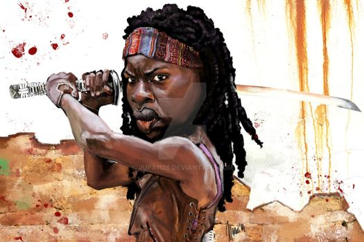 Michonne walking dead caricature by jupa1128