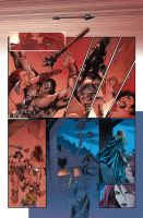Red Sonja Action page by PaulRenaud