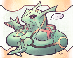 Rayquaza - Cinnamon Clouds by Reshidove