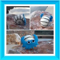 Omanyte plushie!!! by Technoloaf