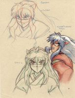 Inuyasha Technical Sketches2 (2008) by La-Nora