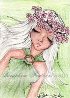 2010 ACEO: Spring Nymph by SeraphimFeathers