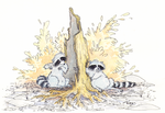 Nature Racoons 1 by Aleayo