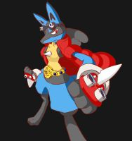 King Lucario by limb92